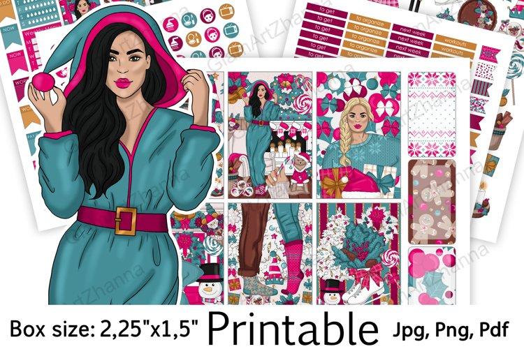 "Christmas Printable Sticker BoxSize 2,25""x1,5"" example image 1"