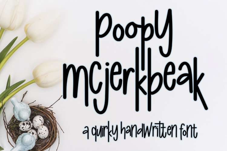Poopy McJerkbeak Font - A quirky handwritten font example image 1