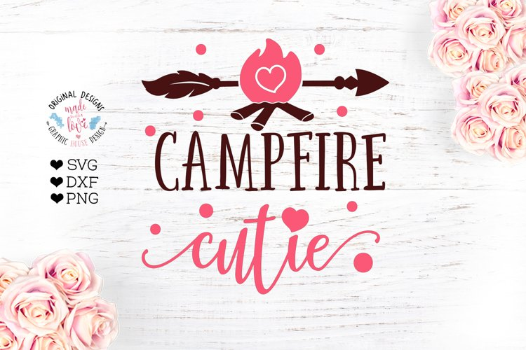 Campfire Cutie - Camping Cut File and Sublimation File