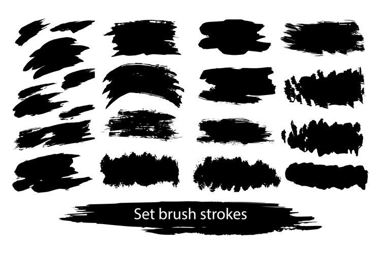 Hand drawn set brush strokes