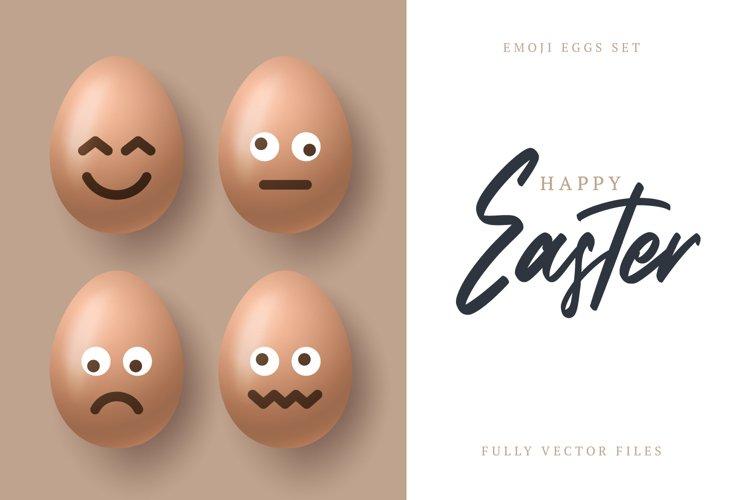 Easter emoji egg set