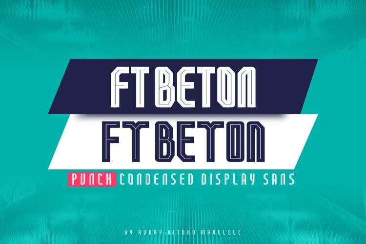 FT Beton Punch Condensed example image 1