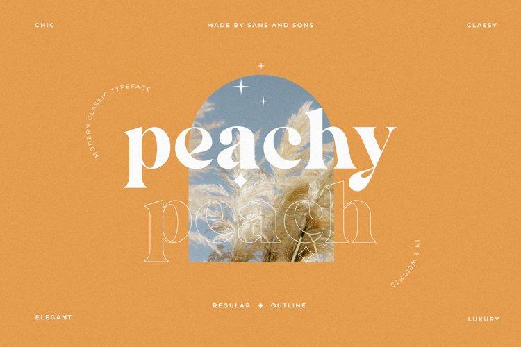 Peach - Modern Chic Serif