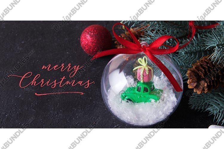 Christmas card with greetins