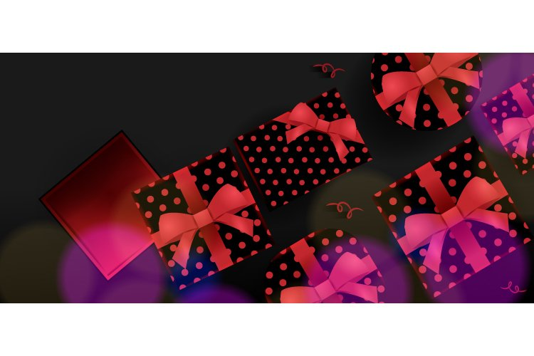 3d and Shiny Gift Boxing Day Background Graphic example image 1