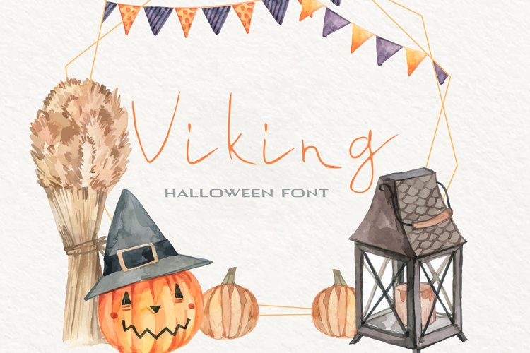 Viking Halloween Font example image 1