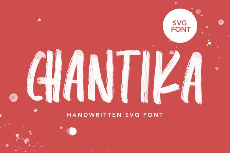 CHANTIKA - Script SVG Fonts example image 1