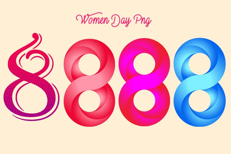 Women Day Png Elements