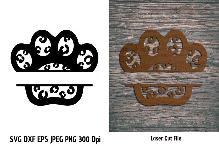 Animal Print Paw SVG| Pet Paw cutting files| Paw Print SVG example image 1
