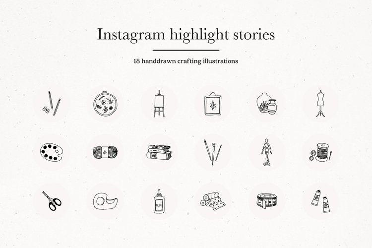 Instagram Craft Highlights Icons | Instagram Story Covers example image 1