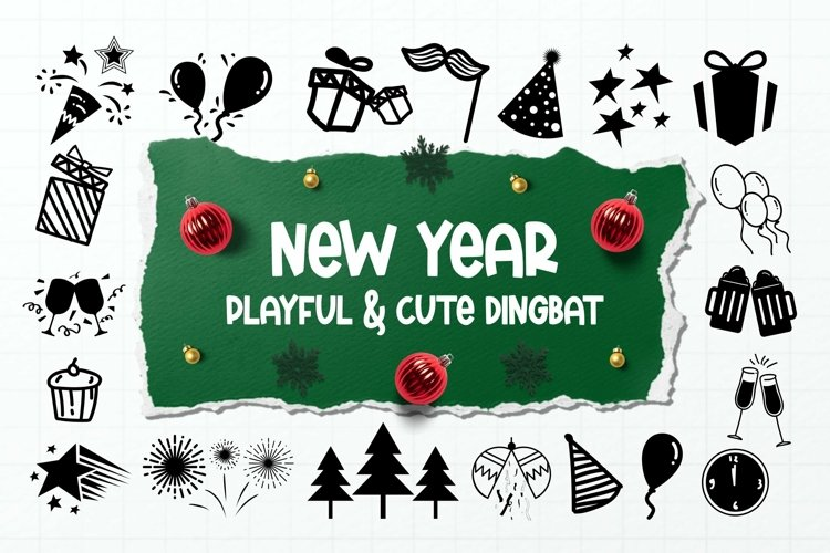 Web Font New Year Dingbats example image 1