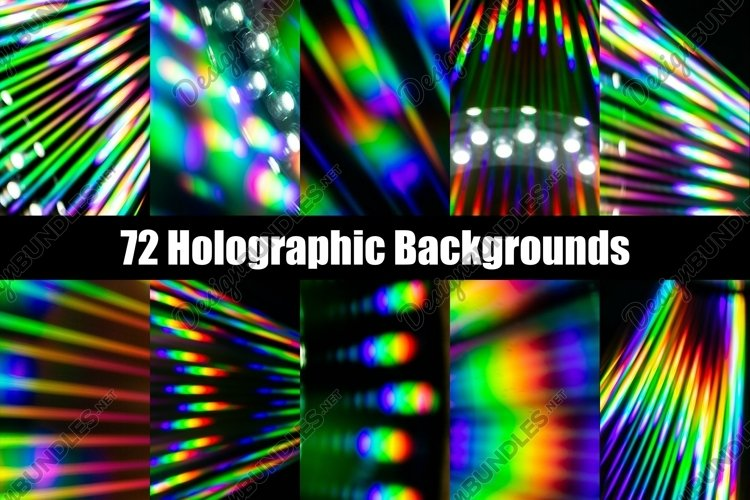 Holographic CD Neon Rainbow Backgrounds Collection by Squeeb Creative
