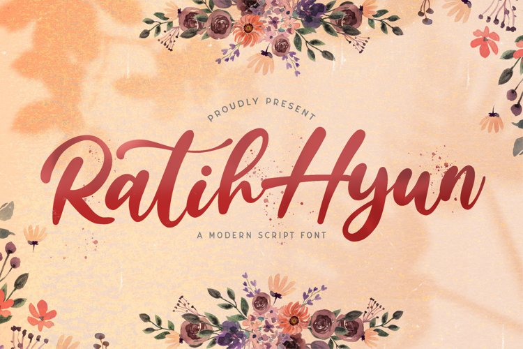 Ratih Hyun - Lovely Calligraphy Font example image 1