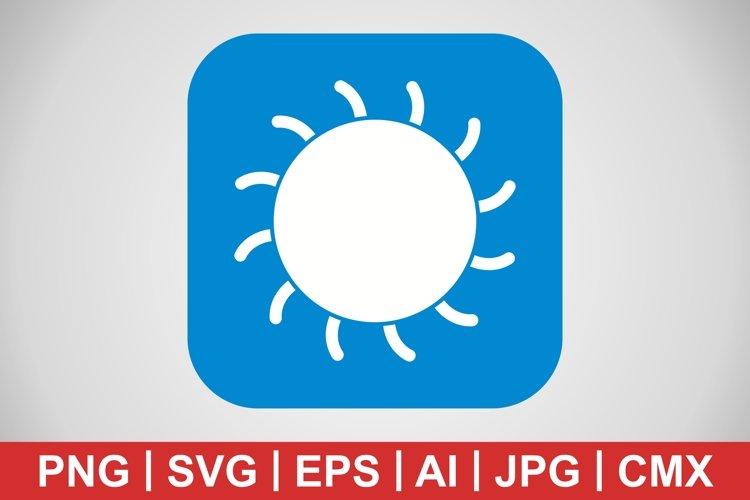 Vector Sun Icon example image 1