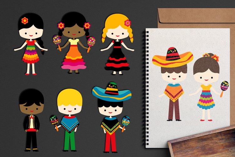 Cinco de mayo kids graphic illustration / Mexican boys girls example image 1