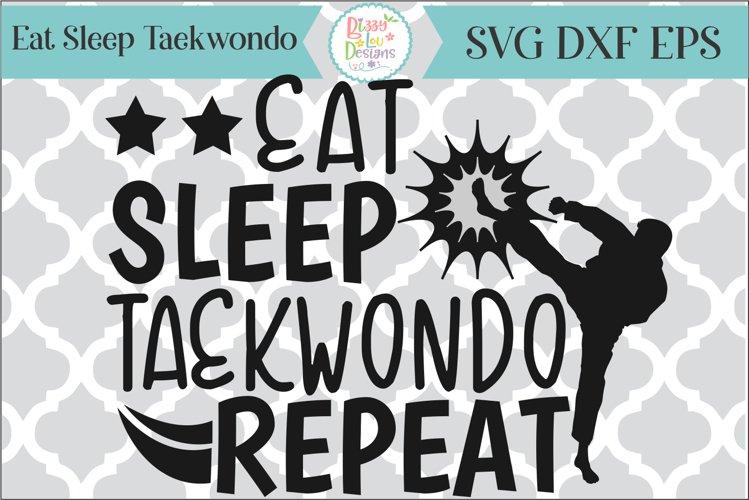 Eat Sleep Taekwondo Karate SVG