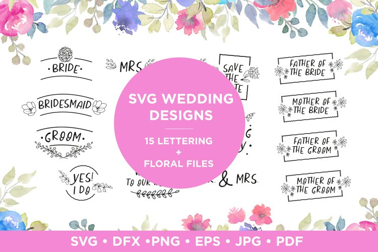 Wedding lettering quotes svg