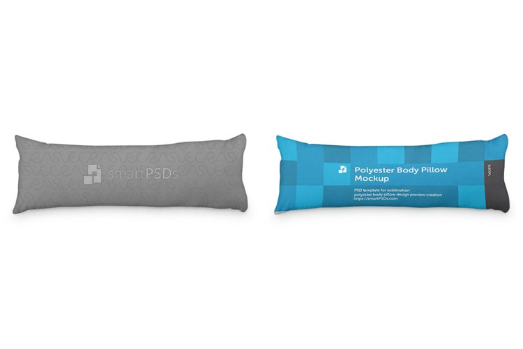 Polyester Body Pillow Cover Design Mockup example image 1