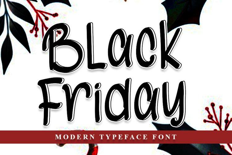 Black Friday - Modern Typeface Font example image 1