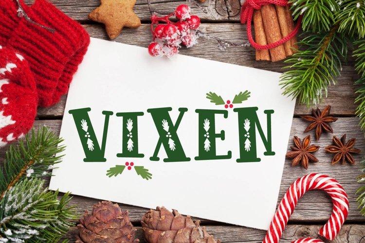 VIXEN - A festive Christmas font! example image 1