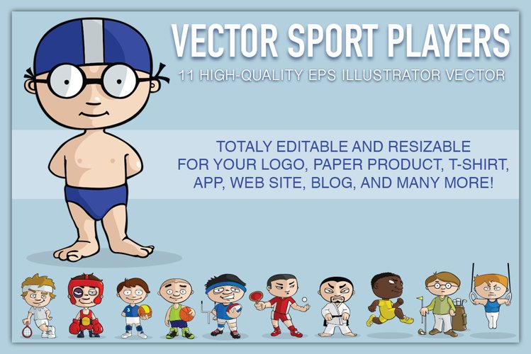 VECTOR sport players
