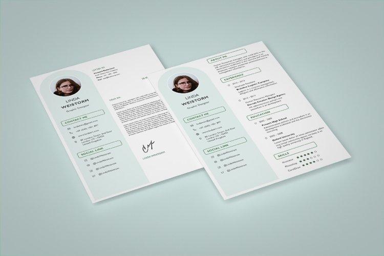 Modern and Minimalist Resume Template CV Vol.2 example image 1