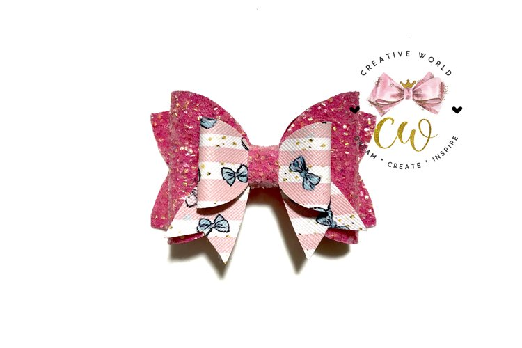 New 2021 Hair Bow Digital Template | Bow Template |CWC169 example image 1