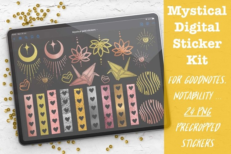 Mystical Digital Sticker Kit For GoodNotes Planner example image 1