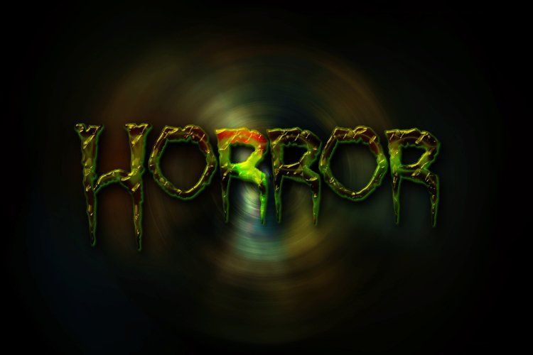 8 Spooky Text Effects on Fully Editable PSD Templates example image 1