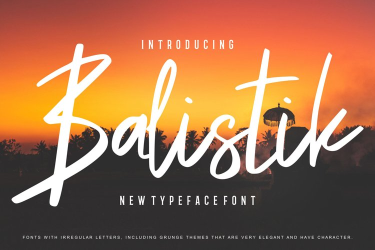 Balistik | Modern Script Font example image 1