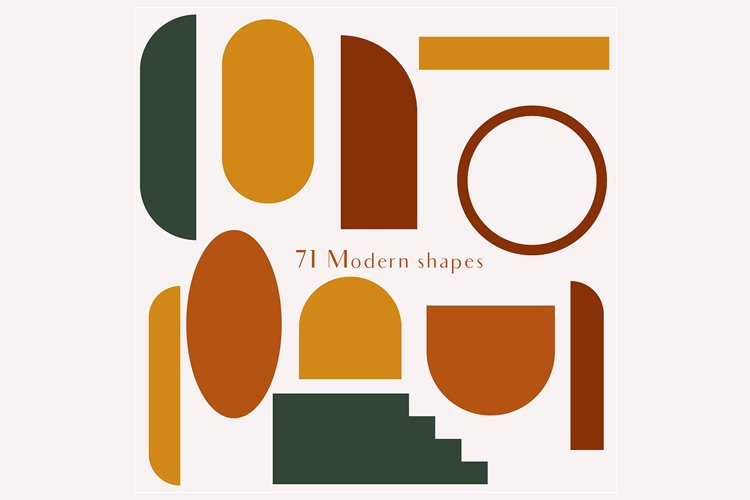 71 Modern shapes clipart illustrations example 1