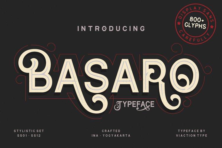 Basaro - Display Typeface example image 1