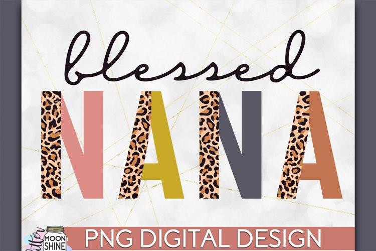 Blessed Nana Leopard PNG Sublimation Design