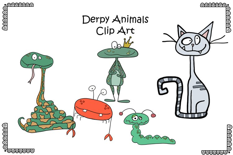 Funny Animal Clipart example image 1
