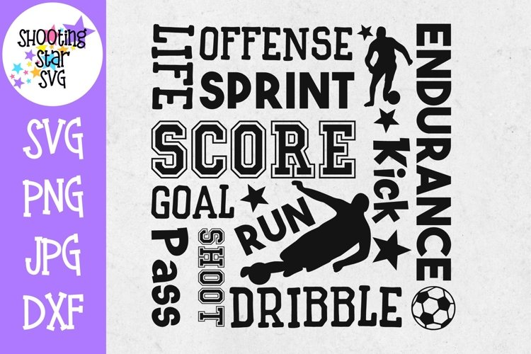Soccer Subway Art - Soccer SVG - Sports SVG