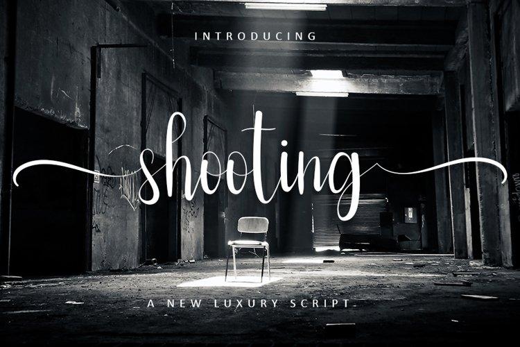 Shooting - Web Font example image 1