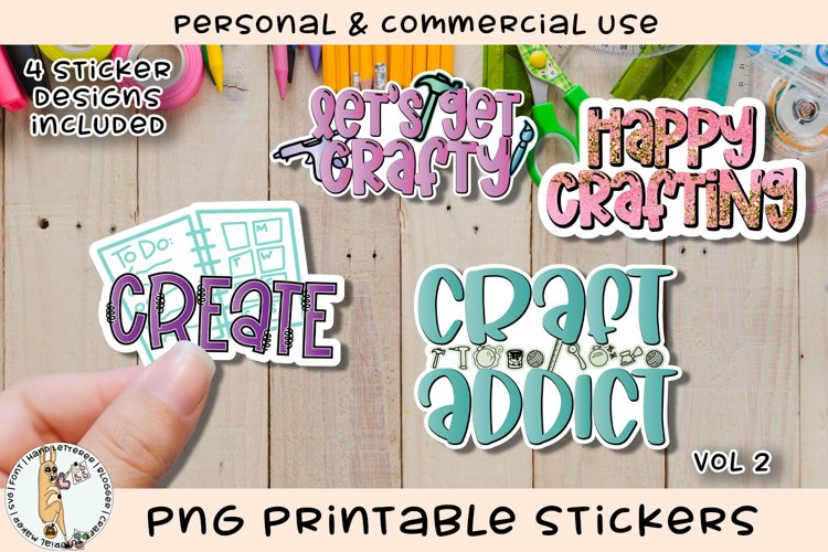 Crafters Crafty Stickers Vol 2 Printable PNG example image 1