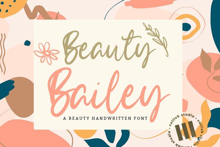 Beauty Bailey - A Beauty Handwritten Font example image 1