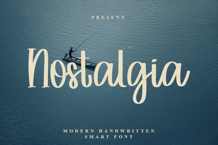 Nostalgia - Modern Handwritten Font example image 1