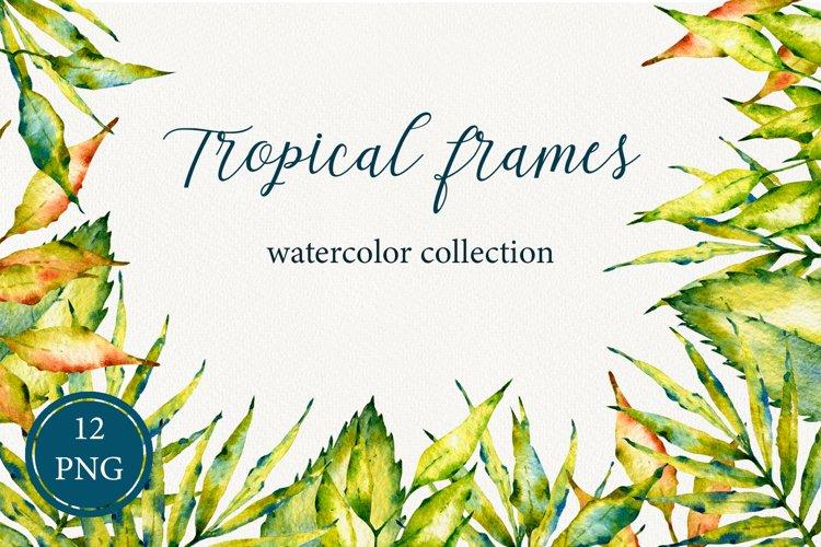 Tropical frames watercolor set