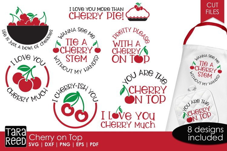 Cherry on Top - Food SVG and Cut Files for Crafters