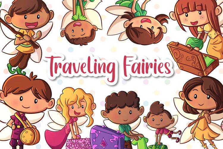 Traveling Fairies Clip Art