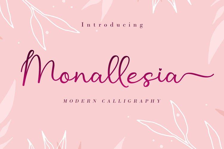 Monallesia Script example image 1