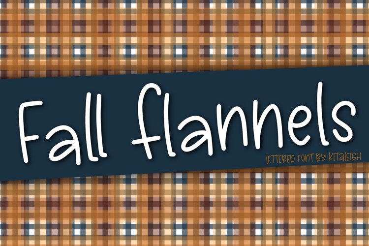 Fall Flannels a Hand Lettered Font example image 1