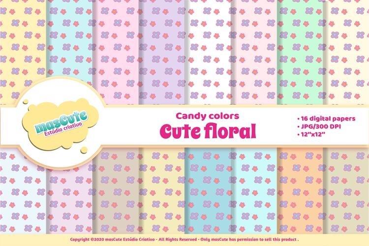 Digital Paper Pack - Cute Floral example image 1