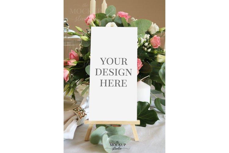 Menu Mockup, Wedding Menu Card Mockup, Stationary Mockup example image 1