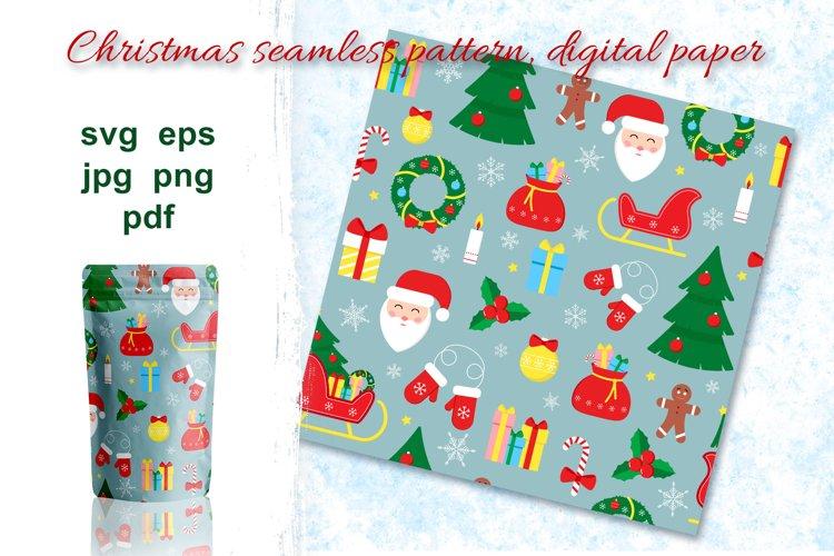 Christmas seamless pattern, digital paper. example image 1