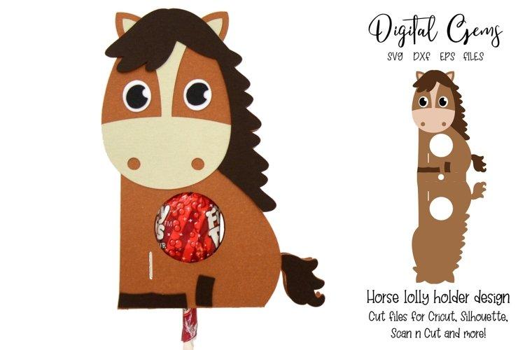 Horse Lollipop / Sucker holder design SVG / DXF / EPS