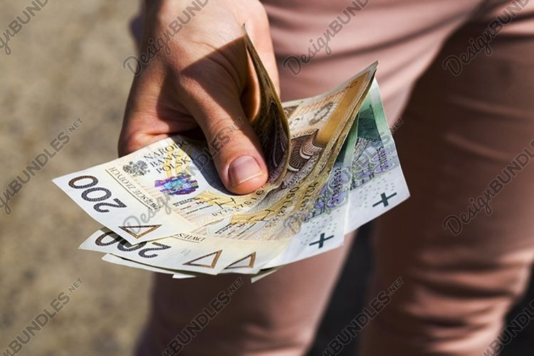 Polish money in the hands example image 1
