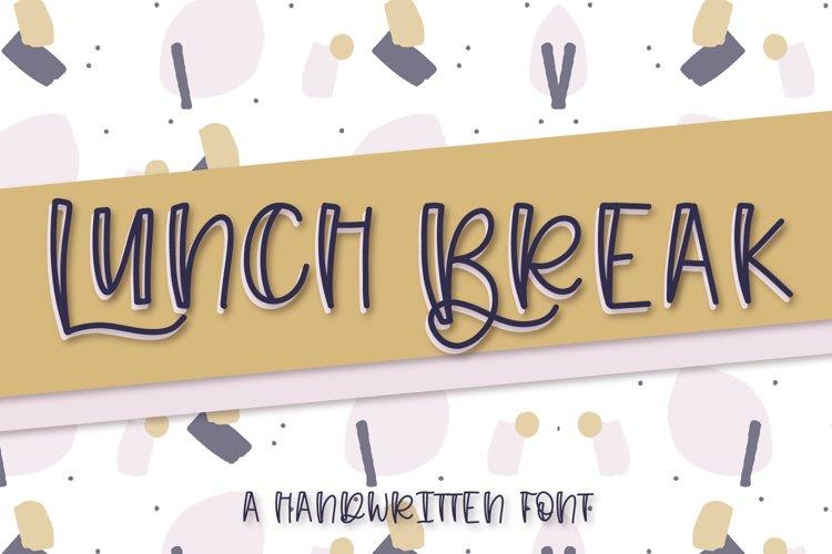Lunch Break - A Handwritten Font example image 1